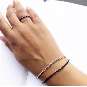 New Beautiful Black Stone Tennis Bracelet